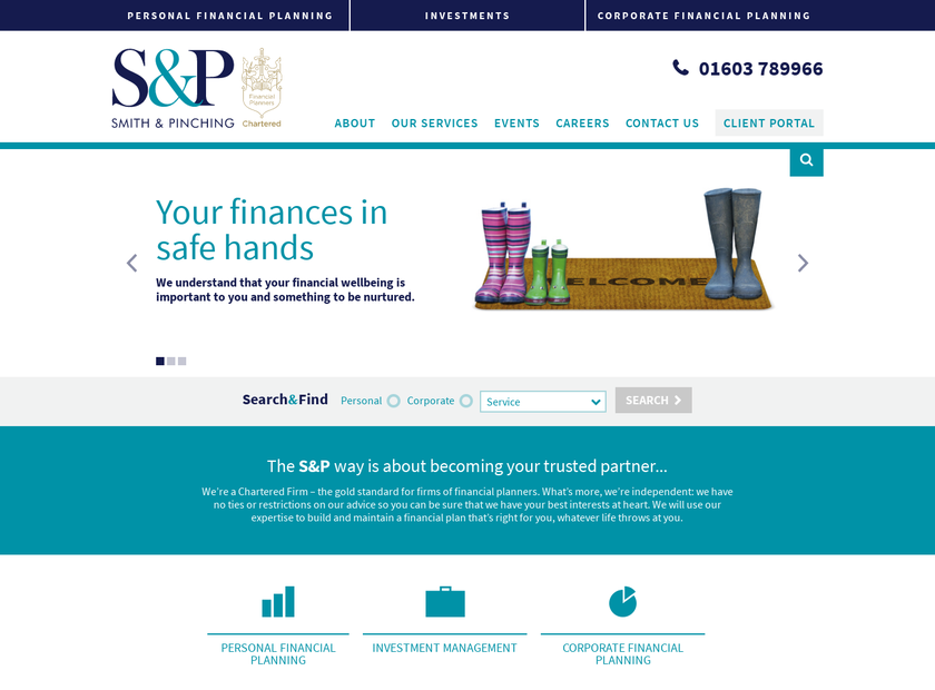 The Smith & Pinching Group Ltd homepage screenshot