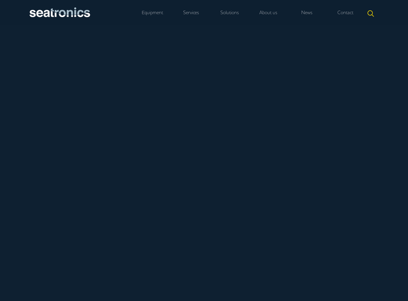 Seatronics Ltd homepage screenshot