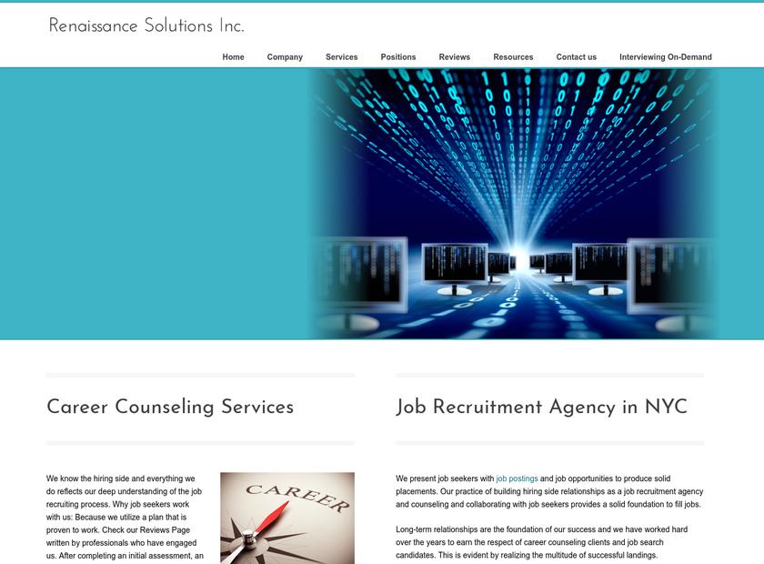 Renaissance Solutions Inc homepage screenshot