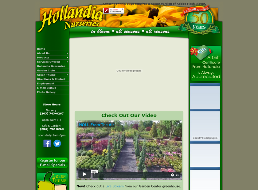 Hollandia Nurseries, Llc homepage screenshot
