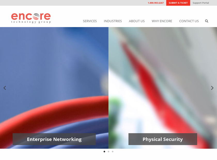 Encore Technology Group LLC homepage screenshot