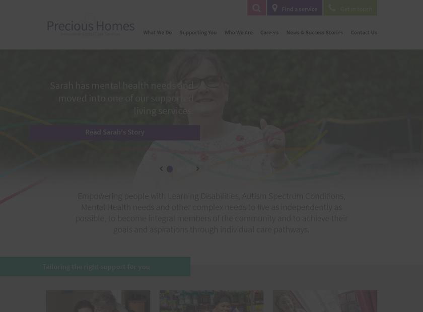 Precious Homes Ltd homepage screenshot