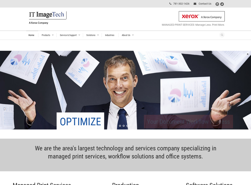 Image Technology Specialists Inc homepage screenshot