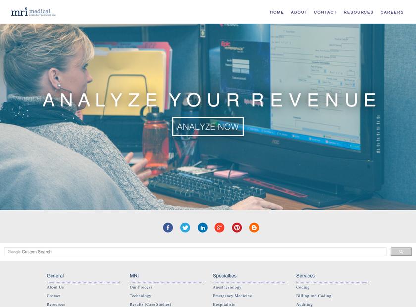 Medical Reimbursement Inc homepage screenshot