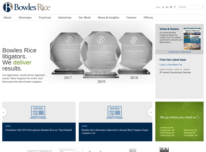 Bowles Rice McDavid Graff & Love LLP homepage screenshot