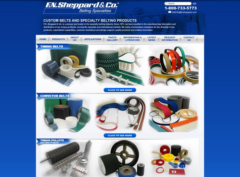 F. N. Sheppard & Co homepage screenshot