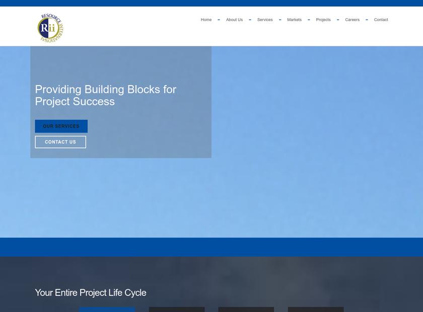 Resource International , Inc. homepage screenshot