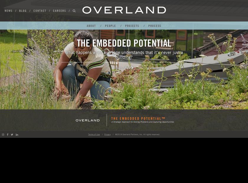 Overland Partners , Inc. homepage screenshot