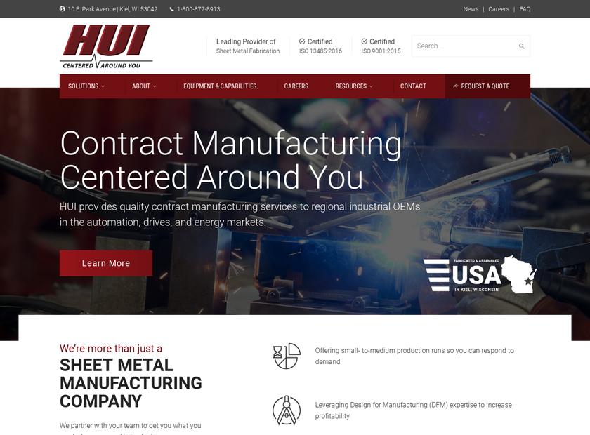 HUI homepage screenshot