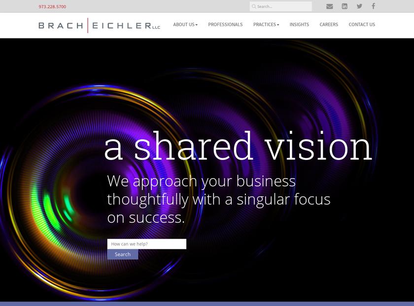 Brach Eichler LLC homepage screenshot