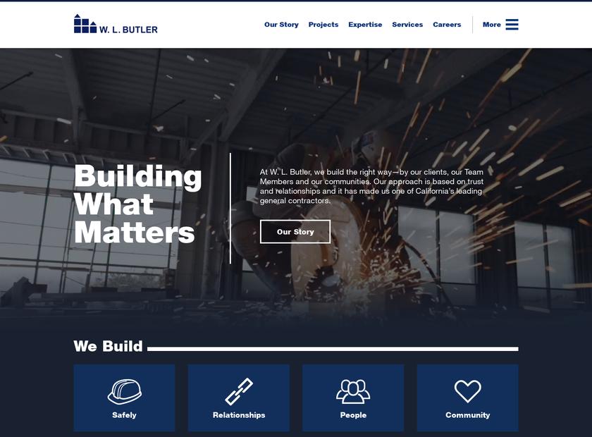 W. L. Butler Construction Inc homepage screenshot