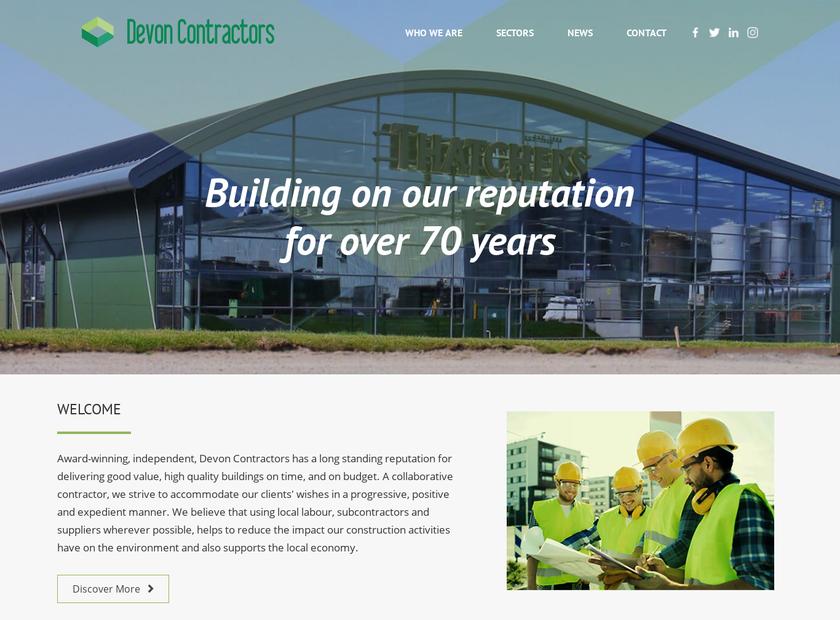 Devon Contractors Ltd. homepage screenshot